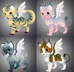 Cats FAantasy Adoptables FREE (0/4 CLOSED) by 8976lacke