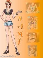 Montage of Nami by GueparddeFeu