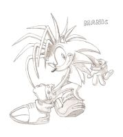 Manic the Hedgehog Sketch by mainnine