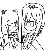 Colouring contest template by Kawaii5Pudding