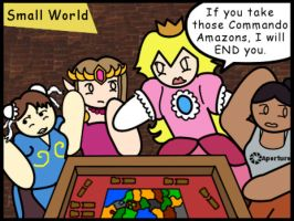 Video Game Stars Playing Board Games: Smallworld by The-Author-M