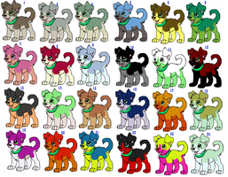 FREE dog adoptables by thewolfcankill