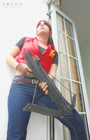 RE Code Veronica X - Claire Redfield cosplay by Vicky-Redfield