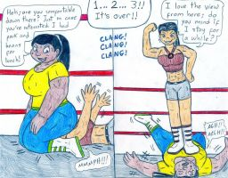 Wrestling Heather vs LS - Finals by Jose-Ramiro