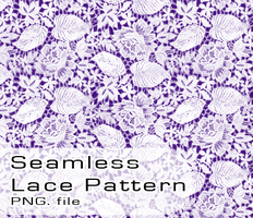 Seamless Transparent Lace Pattern (PNG/PSD) by Sayuko25