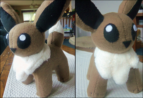 Eevee Plush Commish - Luraklos by Sparkle-And-Sunshine