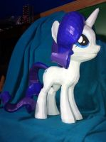 My Little Pony Rarity Papercraft Remastered by Meercat122