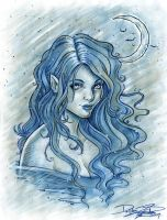 Midnight Blue by delphineart