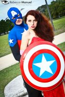 Captain America and Jessica Rabbit by Rebecca-Manuel