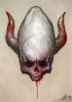 Demonic Skull - 20130119 by noistromo