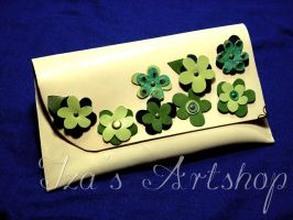 Green Flowers Cocktail Bag by izasartshop
