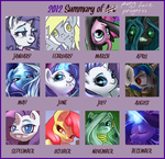2012 and ponies by atryl