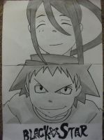 Tsubaki and BlackStar! by Terruhio