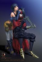 Yuffie and Vincent by xXxRomeo