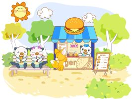 Miju Selling ice cream in park by G-Team