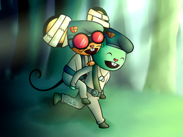 [HTF] Flippy and Mouse Ka-Boom~ by Jaha-Fubu