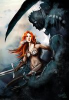 Red Sonja Battle by ismaelArt