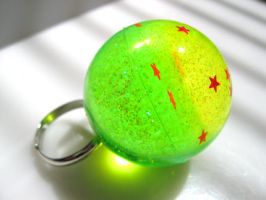 Lime-onade Galaxy in a ring by pinkminx