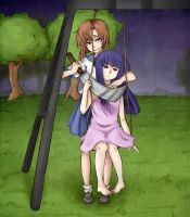 See what happens in  Higurashi by shindianaify