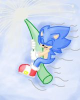 sweet flying hedgie by LeniProduction