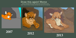 Before and After: Cougar Cub by Professor-R