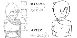 nEON pUNK before and after by rayne-storme