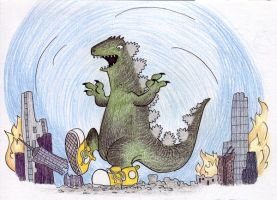 Godzilla In Chucks by SurlyQueen