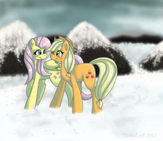 Snow Stroll by DaikaLuff