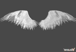 Realistic Angel Wings by IamRinoaHeartilly