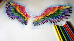 Colored Wings by sercanaratart