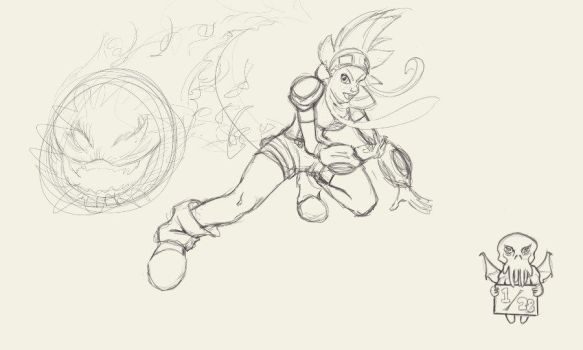 Daily Draw Feb 2013 - 01/28 :: Cryamore fanart by BCullis