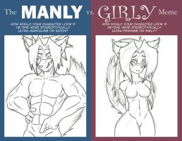 The Manly VS. Girly Meme by EtriuzJT