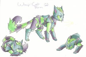 Wasp - Cat Form by CelestialTentails