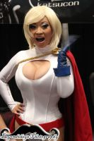 The Great Yaya Han as Power Girl at NYCC 2013 by Beyondtheye