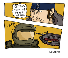 Marcus VS Masterchief by Loweak