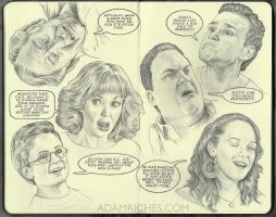 The Goldbergs Sketchbook Art by AdamRiches