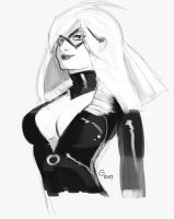 Black Cat pinup quickie by ITAGalf
