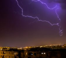 Lightning Storm Over Boumerdes by Yashy-Sich