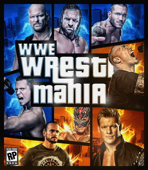 Wrestlemania The Game Fan made Cover ( gta style ) by THE-MFSTER-DESIGNS