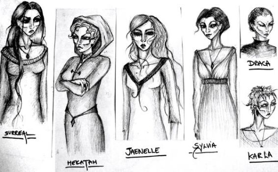 The women of the Blood by 0palesque