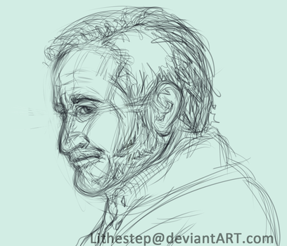 Robin Williams sketch by Lithestep