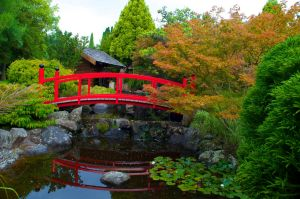 red bridge by LacunaRes
