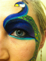 Peacock Face 3 by throughtherain67