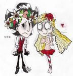 Don't Starve Together - Wilson and Wendy .:C18:. by AutumnEmerald
