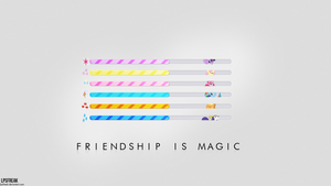 Mane 6 Loading Bar Wallpaper by shaynelleLPS