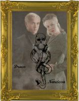 Narcissa and Draco Malfoy by x-TheMadHatter-x