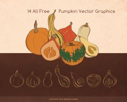 Free pumpkin vectors by ninahagn