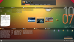 Rainmeter-Orange Glow by iamshobhit