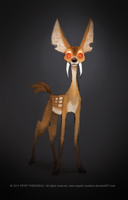 DAY 342. Chinese Water Deer by Cryptid-Creations