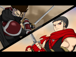 Maikeru vs Jasutin by Ninja-8004